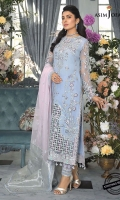 Embroidered Organza Suits Unstitched 3