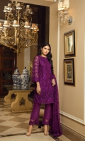 Sequins Embroidered Chiffon Front1 yards Embroidered Chiffon Back1 yards Sequins Embroidered Chiffon SLeeves0.6 yards Sequins Embroidered Chiffon Dupatta2.5 yards Dyed Raw Silk Bottom2.5 yards Embroidered Bottom Laces