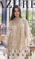 Sequins Embroidered Net Front0.82 Yards (Width) Sequins Embroidered Net Sleeves0.6 Yards(Width) Embroidered Net Back0.82 Yard(Width)