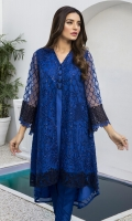 """Sequins Embroidered Net Front: 0.82yards Embroidered Net Back: 0.82yards Sequins Embroidered Net Sleeves: 0.62yards Shirt Length: 40""""+ Shirt width: 30"""" Inner Fabric Included"""