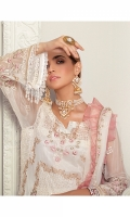 0.75 Yrd Embroidered Crinkle Chiffon Front 1 Yrd Embroidered Crinkle Chiffon Back 0.5Yrd Embroidered Crinkle Chiffon Side Panels 1 Yrd Embroidered Border for Front 1 Yrd Embroidered Border for Back 1 Yrd Embroidered Crinkle Chiffon Sleeves 2.75 Yrd Embroidered Crinkle Chiffon Dupatta 2.5 Yrd Dyed raw silk pants 2.5 Yrd Dyed cotton silk linning fabric