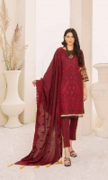 1.25m Dyed Embroidered Front 0.75m Dyed Embroidered Sleeves 1.25m Printed Back 2.5m Dyed Trouser 2.5m Dyed Embroidered Shawl