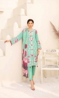 1.25m Dyed Embroidered Front 0.75m Dyed Embroidered Sleeves 1.25m Printed Back 2.5m Dyed Trouser 2.5m Printed Shawl