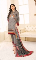1.25m Dyed Embroidered Front 0.75m Printed Sleeves 1.25m Printed Back 2.5m Dyed Trouser 2.5m Printed Shawl