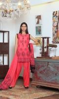 Pieces: 3  Kameez, Shalwar, Dupatta  Banarsi Cotton Kameez with Resham Motif Jhumar Style.  Dupatta of Motif Resham Line and Self work.  Plain Cotton Silk Shalwar.