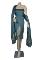 Pieces: 3  Kameez, Shalwar, Dupatta  Maisori Chiffon Fabric of Kameez with Small Motif Design and Zari Resham Daman.  Motif Resham Line Work on Anchal of Dupatta.  Pure Plain Silk Shalwar.