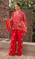 Shirt: Embroidered Lawn - 1.25 Meter Back: Embroidered Lawn - 1.75 Meter Dupatta: Embroidered Chiffon - 2.5 Meter Shalwar: Plain Cambric - 2.5 Meter