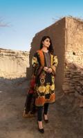 Shirt: Embroidered Lawn - 1.1 Meter Back/Sleeve: Lawn - 1.75 Meter Dupatta: Chiffon - 2.5 Meter Shalwar: Cambric - 2.5 Meter