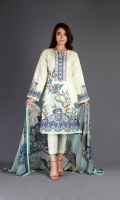 Shirt: Printed Lawn - 2.2 Meter Dupatta : Chiffon - 2.5 Meter Shalwar: Cambric - 2.5 Meter