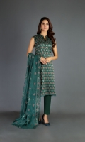 Shirt: Embroidered Khaddi Cotton Net - 3 Meter Dupatta: Embroidered Khaddi Cotton Net - 2.5 Meter