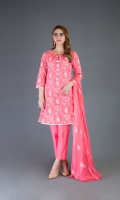 Shirt: Embroidered Lawn - 2.5 Meter Dupatta: Embroidered Chiffon - 2.5 Meter Shalwar: Plain Cambric - 2.5 Meter