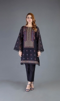 Shirt: Embroidered Lawn - 1 Meter Back: Embroidered Lawn - 1 Meter Sleeves: Embroidered Lawn - 0.75 Meter