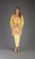 Shirt: Embroidered Lawn - 1 Meter Back: Embroidered Lawn - 1.5 Meter
