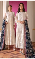 Embroidered Chiffon Front (1.40 Yard) Embroidered Chiffon Body Front (1 PC) Plain Chiffon Back (1.50 Yards) Embroidered Chiffon Sleeves (0.72 Yard) Embroidered Sleeves Patch (1.10 Yards) Embroidered Front and Back Patches (2) (3.30 Yards Each) Embroidered Chiffon Dupatta (2.65 Yards) Embroidered Dupatta Patch (5.75 Yards) Dyed Silk Trousers (2.50 Yards)