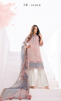 Embroidered Lawn Front Digital Printed Lawn Back+Sleeves Embroidered Sleeves Patch Embroidered Front Patch Digital Printed Chiffon Dupatta Embroidered Cambric Lawn Trouser
