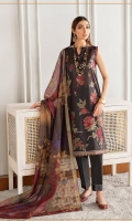 Digital Printed Embroidered Front Digital Printed Back & Sleeves Digital Printed Cotton Dori Dupatta Dyed Cambric Lawn Trouser