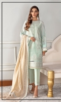 Embroidered Lawn Front Digital Printed Lawn Back & Sleeves Embroidered Front Patch Dyed Cotton Net Dupatta Embroidered Dupatta Patches (2) Dyed Cambric Lawn Trouser
