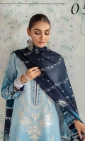 Digital Printed Lawn Shirt Embroidered Neckline Patch Digital Printed Silk Dupatta Embroidered Cambric Lawn Trouser