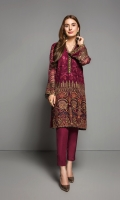 2 Piece  Fabric : Chiffon  Color: Maroon  Includes : Shirt & Trouser with Lining and Accessories