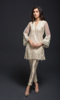 2 Piece  Fabric Shirt: Organza  Fabric Trouser: Jamawar  Includes : Shirt & Trouser with Lining and Accessories