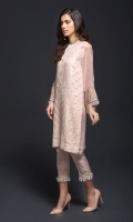 2 Piece  Fabric : Chiffon Color : Pink Includes : Shirt & Trouser with Lining and Accessories