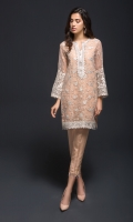 2 Piece  Fabric : Organza Color : Peach Includes : Shirt & Trouser with Lining and Accessories