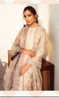 Embroidered Swiss Lawn Front Embroidered Swiss Lawn Side Panel Plain Swiss Lawn Back Embroidered Swiss Lawn Sleeves Embroidered Sleeves Patch Embroidered Front + Back Patch Embroidered Chiffon Dupatta Embroidered Dupatta Patch Dyed Cambric Lawn Trouser