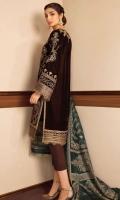 Embroidered Velvet Unstitched 3 Piece Suit