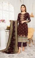 3 Meter Linen Printed Shirt 2.5 Meter Linen Printed Duppata 2.5 Meter Dyed Trouser.