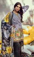 3.2 Meter Embroidered Lawn Shirt 2.5 Meter Digital Silk Duppata 2.5 Meter Dobby Trouser 2 Pcs Embroidered Motif 1 Pc Embroidered Lace