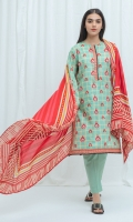 2.9 Mtrs Printed Lawn Shirt 2.5 Mtrs Printed Lawn Dupatta 2.5 Mtrs Dyed Pants