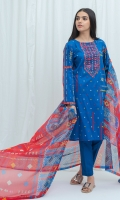 2.9 Mtrs Printed Lawn Shirt With Embroidery 2.5 Mtrs Printed Blended Chiffon Dupatta