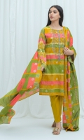 2.9 Mtrs Printed Lawn Shirt 2.5 Mtrs Printed Lawn Dupatta 0.7 Mtrs Embroidered Neckline