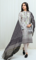 2.9 Mtrs Printed Lawn Shirt With Embroidery 0.8 Mtrs Embroidered Sleeve Patti 2.5 Mtrs Printed Lawn Dupatta