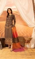 Dyed Masuri Shirt Emroidered 3M Zari Dupatta 2.50m Dyed Trouser 2.50M
