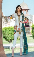 Digital Lawn Shirt :- 3 MTR Chiffon Embroidered Dupatta :- 2.5 MTR  Printed Trouser :- 2.50 MTR Embroidered Daman Patch Neck Line :- 1 Yard Trouser Lace:- 1 Yard