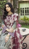 Digital Front Embroidered 1.25 M Digital Back & Sleeves 1.75 M Embroidered Chiffon Dupattaa 2.50 M Dyed Trouser 2.5 M