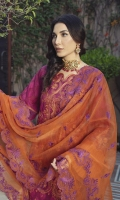 Dyed Jacquard Embroidered Front 1.25 M Dyed Jacquard Embroidered Back 1.25 M Dyed Jacquard Sleeves  0.7 Yard Dyed Embroidered Organza Dupatta 2.50 M Embroidered Lace For Sleeves 1 Yard Embroidered Daman Motif 1 Pc Dyed Trouser  2.5 M
