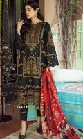 Dyed Embroidered Front & Sleeves 1.75 M Dyed Embroidered Front Penal 1 Pc Digital Print Back 1.25 M Digital Print Silk Dupattaa 2.5 M Embroiderd Lace for Daman 1 Yard Dyed Trouser 2.5 M