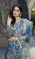 Dyed Jacquard Embroidered Front 1.25 M Dyed Jacquard Embroidered Back 1.25 M Dyed Jacquard Sleeves  0.7 Yard Dyed Embroidered Organza Dupattaa  2.50 M Embroidered Lace For Sleeves  1 Yard Embroidered Daman Motif  1 Pc Dyed Trouser  2.5 M