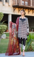 DYED LAWN FRONT EMBROIDERED: 1.25 MTR DIGITAL LAWN BACK SLEEVES: 1.75 MTR DIGITAL  CHIFFON  DUPATTA: 2.50 MTR DYED TROUSER   : 2.50 MTR EMBROIDRED DAMAN PATCH EMBROIDERED TROUSER LACE