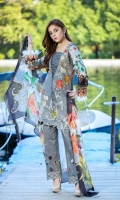 DYED LAWN FRONT EMBROIDERED: 1.25 MTR Digital CHIFFON  DUPATTA: 2.50 MTR DIGITAL LAWN BACK SLEVES : 1.75 MTR DYED TROUSER  EMBROIDERED : 2.50 MTR