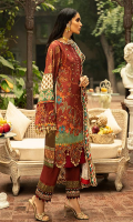 Dyed Front Embroidered 1.25 M Digital Printed Back & Sleeves 1.75 M Digital Print Shawl 2.50 M Embroidered Daman Lace 1 Yard Embroidered Sleeves Lace 1 Yard Dyed Trouser 2.50 M