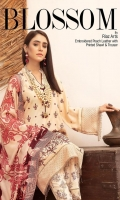 Embroidered Leather Peach Printed Shawl Printed Trouser