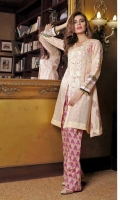 3 pcs unstitched embroidered Silk & Chiffon suits