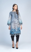 Digital Printed Light Weight Slub Khaddar Shirt: 1.75 M