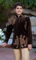 Velvet Embroidered Coat with Pants.