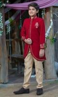Coat with Round Hemline  Motif Pant