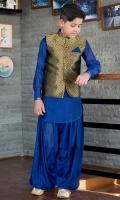 Band Collar Front Plain Straight Sleeves Dhoti Shalwar