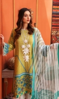 Shirt Lawn Printed Front + Back + Sleeves 3.4 M  Dupatta Loom Weave Dupatta 2.5 M